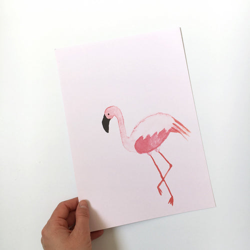 Sample sale – Flamingo art print