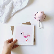 Load image into Gallery viewer, Flamingo card