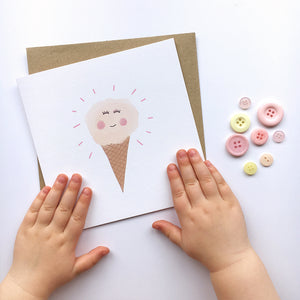 Happy ice cream card