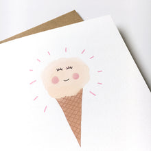 Load image into Gallery viewer, Happy ice cream card