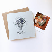 Load image into Gallery viewer, Miss you card with keepsake photo