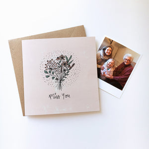 Miss you card with keepsake photo