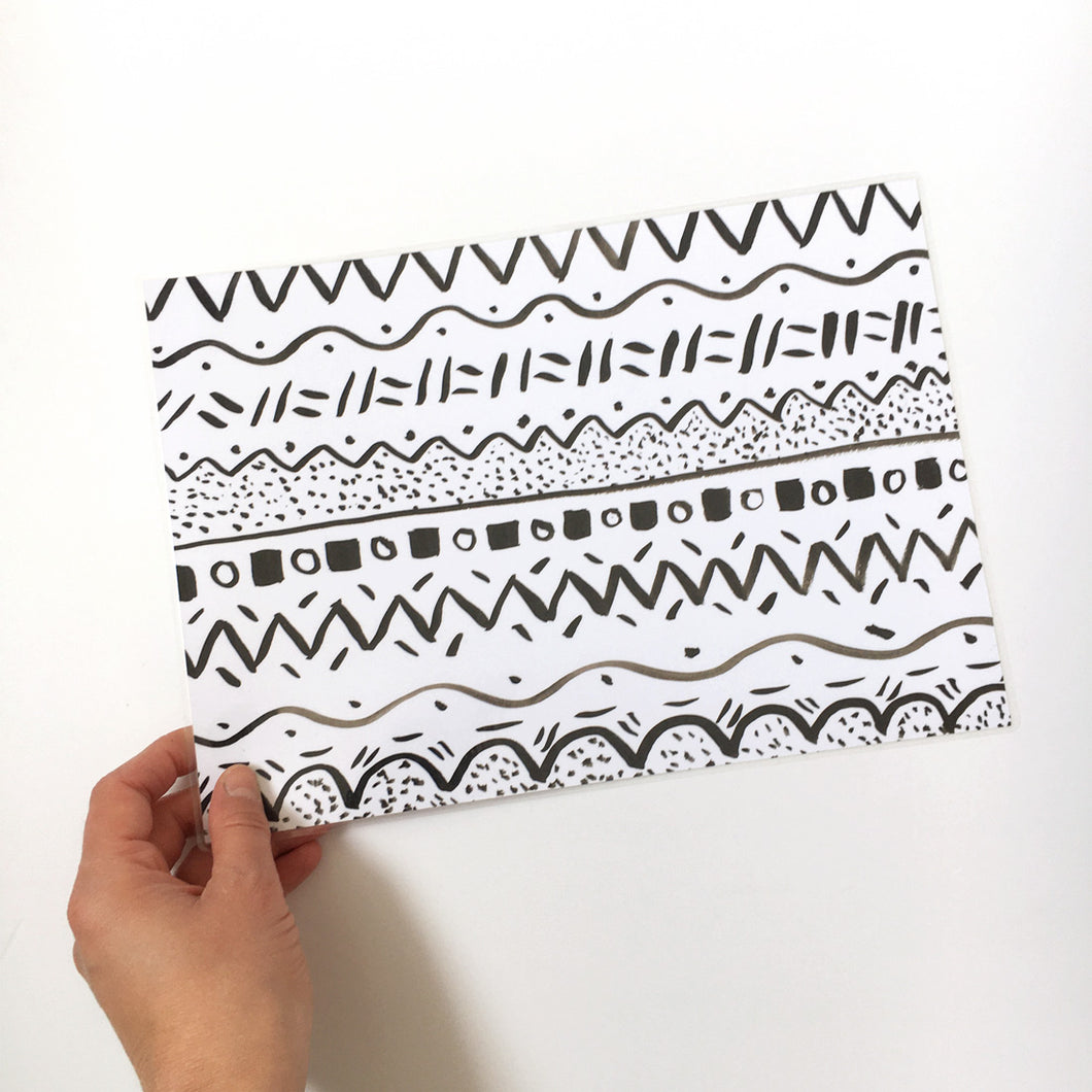 Sample sale - A4 newborn monochrome print