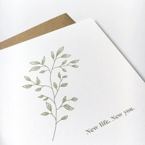 New Life. New You. card