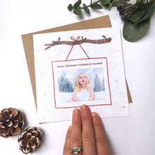 Load image into Gallery viewer, Personalised Photo Christmas Card