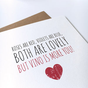 Valentine's card 'But vino is more you'