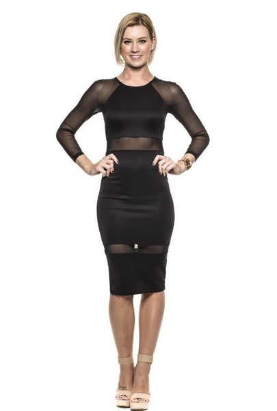 LONELY HEARTS MESH DRESS