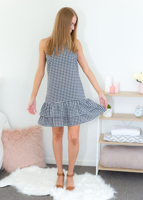 DOUBLE LAYER DRESS - GINGHAM