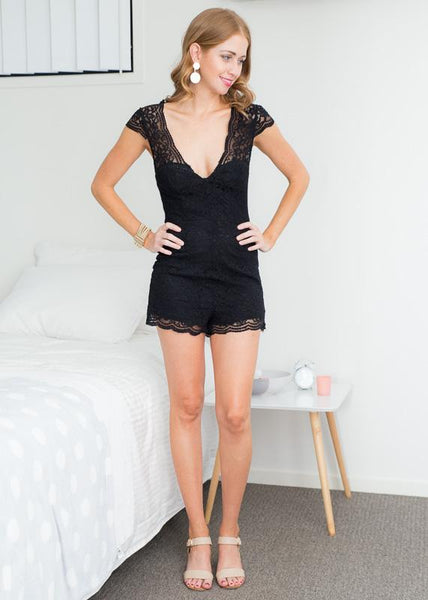 959c010ffe1 IN THE BLACK LACE PLAYSUIT – Rapture Boutique