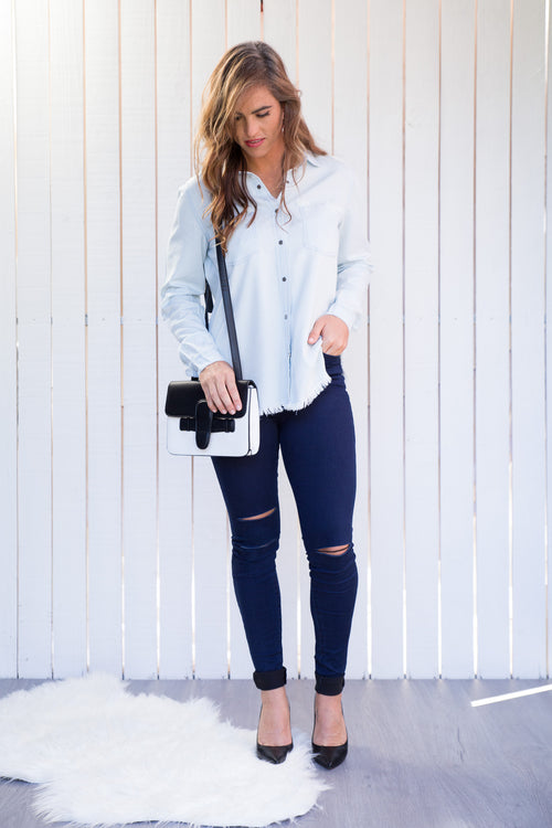 CRUISER FRINGE DENIM SHIRT
