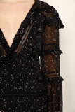 COSMIC STARDUST FRILL DRESS - PRE ORDER