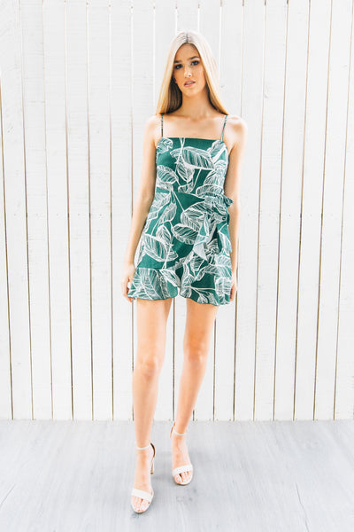 PALM WRAP DRESS