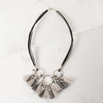 TASSEL RINGS NECKLACE