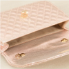 METALLIC QUILTED CLUTCH