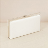 FRAMED CLUTCH - WHITE