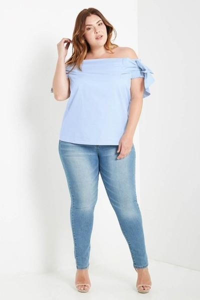 JANEY BOW TIE OFF SHOULDER TOP