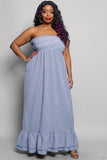 KEILANI TUBE TOP MAXI DRESS