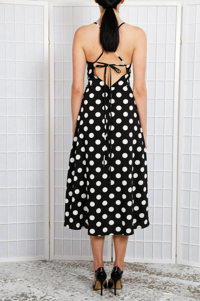 ROMY POLKA-DOT SLIP DRESS