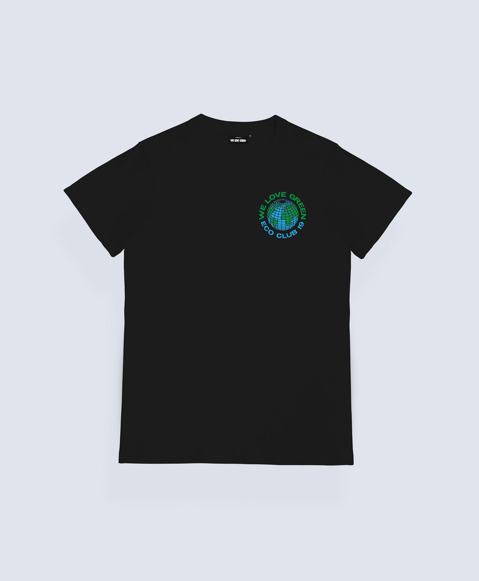 We Love Green Black Eco Club 19 T-shirt