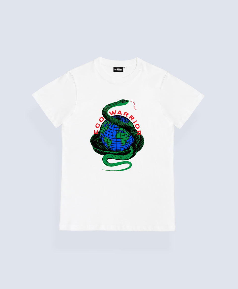 We Love Green Eco Warrior White T-shirt