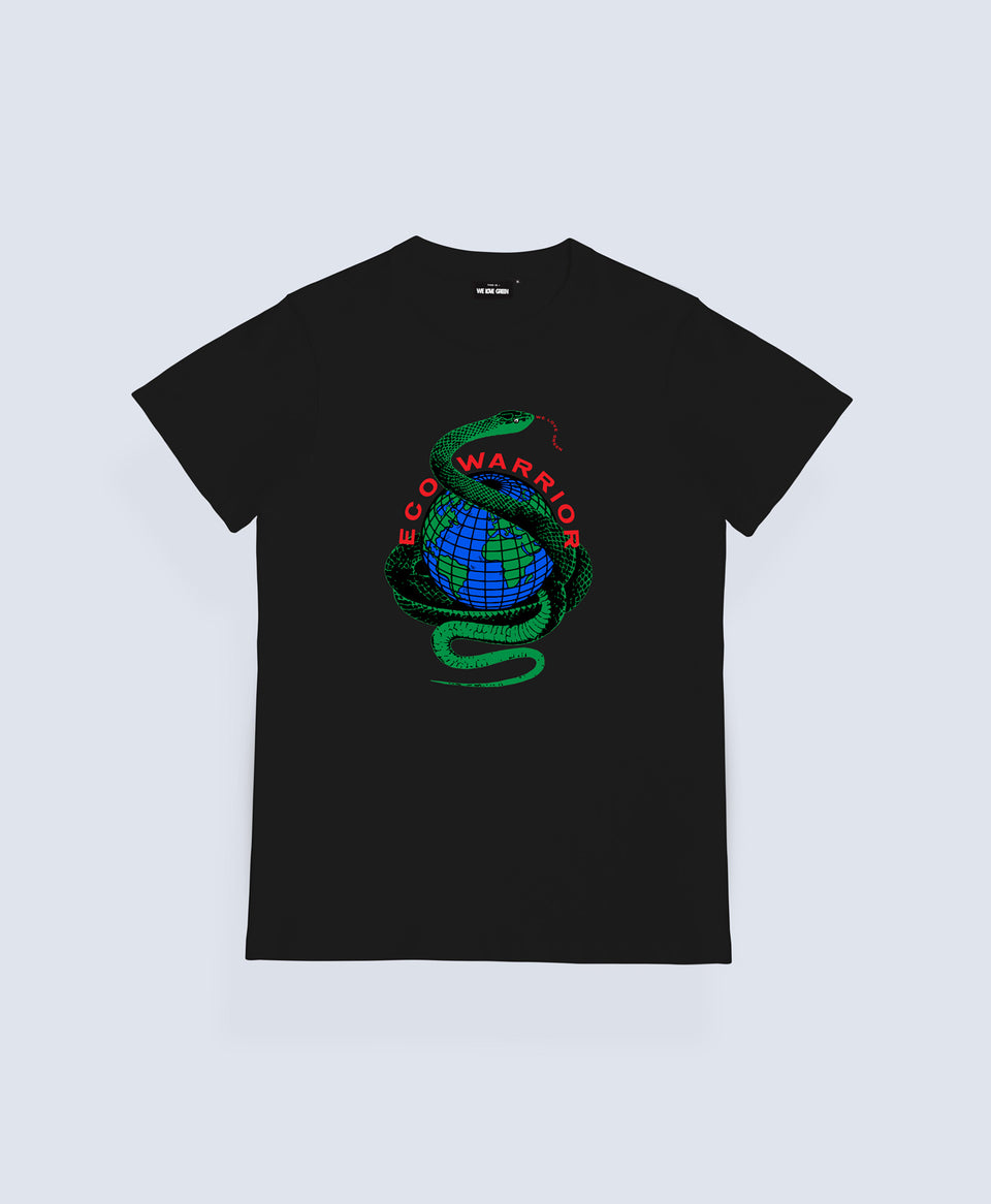 We Love Green Eco Warrior Black T-shirt