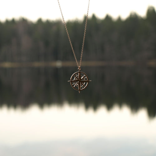 Never Lost Compass Necklace