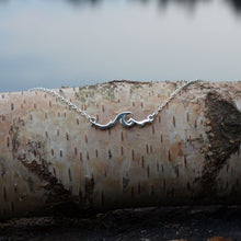 Load image into Gallery viewer, Go with the flow Wave Necklace