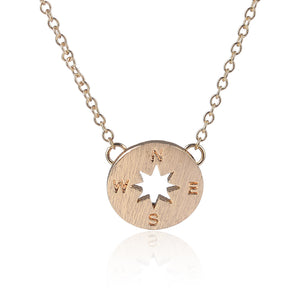 Find your path Compass necklace