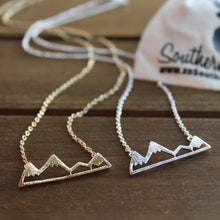 Load image into Gallery viewer, Mountain Necklace for outdoor lovers