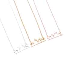 Load image into Gallery viewer, Snowy Mountain Necklace