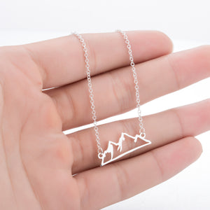 Snowy Mountain Necklace