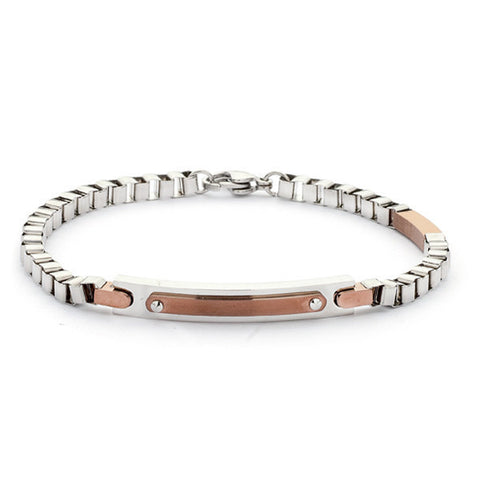 Related product : Bracciale in acciaio e Pvd rosa