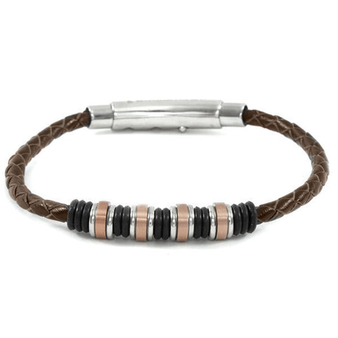 Related product : Bracciale in cuoio marrone