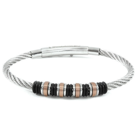 Related product : Bracciale in acciaio 316L bianco