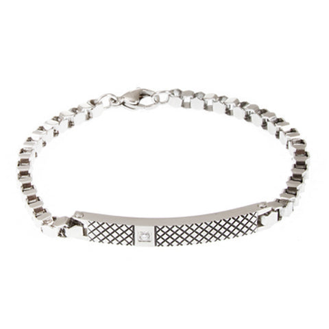 Related product : Bracciale con decoro geometrico e zircone