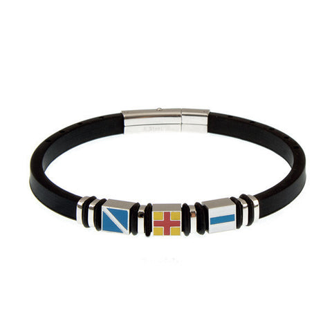 Related product : Bracciale in caucciù e moduli colorati