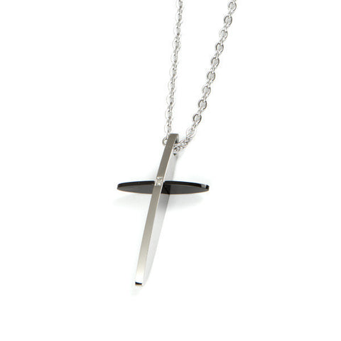 Related product : Collana con crocefisso black and withe e diamante
