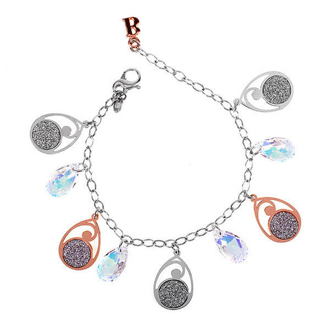 Related product : Bracciale in argento bicolor e Swarovski