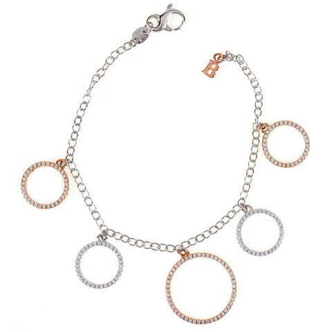 Related product : Bracciale in argento con orbite pendenti e zirconi