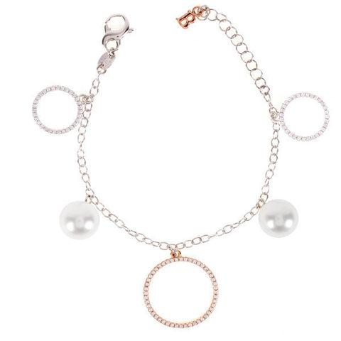 Related product : Bracciale in argento, zirconi e perle Swarovski