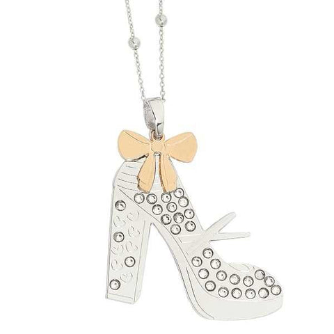 Related product : Collana con scarpa modello Mary Jane pendente e Swarovski