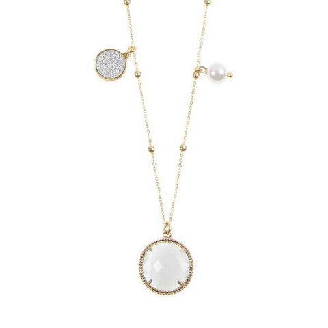 Related product : Collana fantasia con cristallo bianco