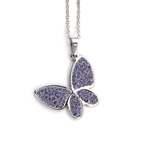 Related product : Collana a forma di farfalla con strass lilla