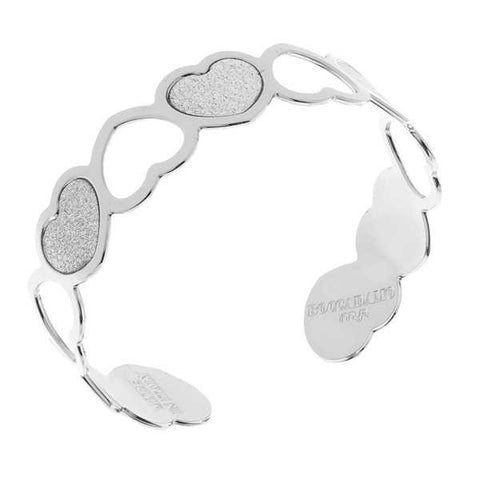 Related product : Bracciale rigido con cuori glitterati