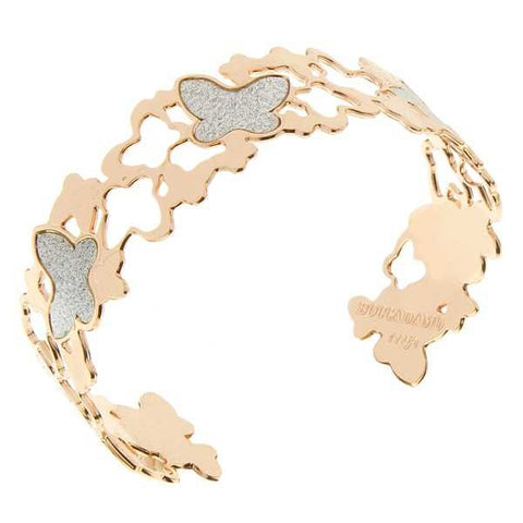 Related product : Bracciale rosato con farfalle di gloss