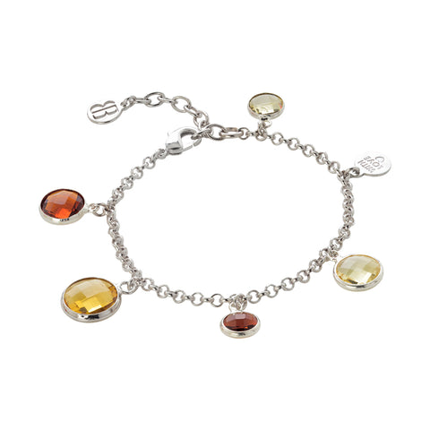 Related product : Bracciale rodiato con cristalli brown, yellow e light citrine