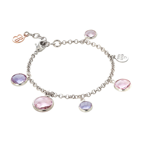 Related product : Bracciale bicolor con cristalli light pink e light amethyst