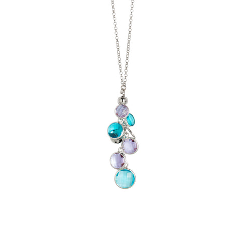 Related product : Collana con cristalli amethyst e acquamarina