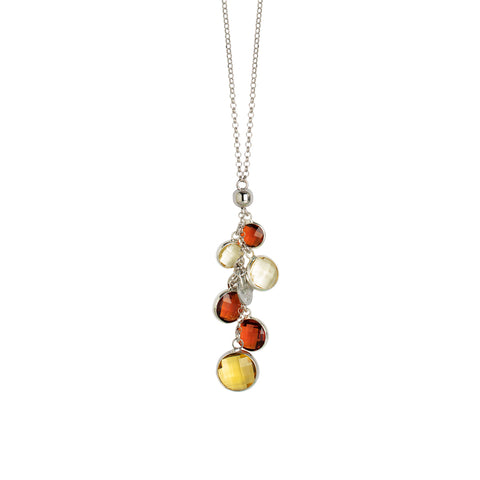 Related product : Collana con cristalli brown e light citrine