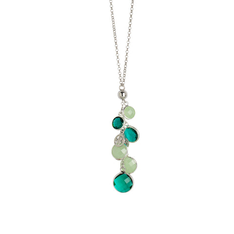 Related product : Collana con cristalli green e light green